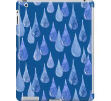 Water drop watercolor hand drawn seamless pattern background. iPad Case/Skin