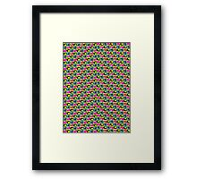 Vertical Bloc Ghost Pattern Framed Print