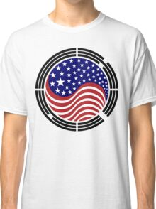 Korean American Multinational Patriot Flag Series Classic T-Shirt
