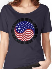 Korean American Multinational Patriot Flag Series Women's Relaxed Fit T-Shirt