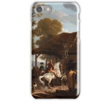 JEAN-LOUIS DEMARNE ATTRIBUTED TO, THE RIDING LESSON iPhone Case/Skin