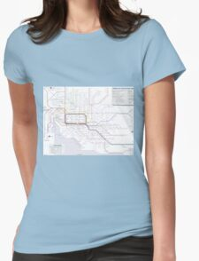 Melbourne train and tram map Womens Fitted T-Shirt