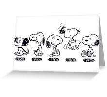 snoopy evolutions Greeting Card