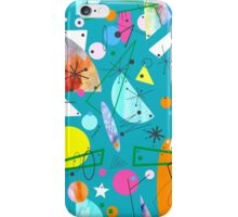 Mid Century Modern - Abstract teal iPhone Case/Skin