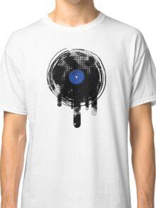 Melting Vinyl Records Vintage Blue Art Classic T-Shirt