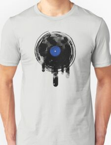 Melting Vinyl Records Vintage Blue Art Unisex T-Shirt