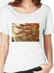 Dainty Branches - Warm Fall Colors - Washington, DC Facades Women's Relaxed Fit T-Shirt