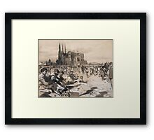 Joaquim Mir, Barcelona, , The Cathedral of the poor Framed Print