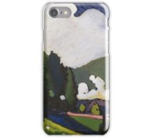 Kandinsky - Landscape Near Murnau With A Locomotive iPhone Case/Skin