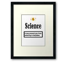 Science Kills Framed Print