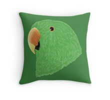 Eclectus [Male] Parrot Throw Pillow