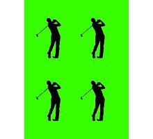 Golfers Silhouette Design Photographic Print