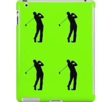 Golfers Silhouette Design iPad Case/Skin
