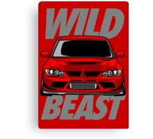 Lancer Evolution Wild Beast Canvas Print
