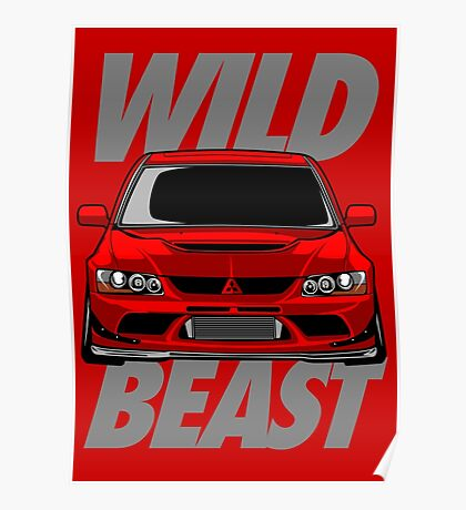 Lancer Evolution Wild Beast Poster