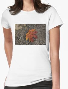 Autumn Colors and Playful Sunlight Patterns - Maple Leaf Womens Fitted T-Shirt