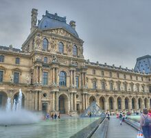 The Louvre With Fountain by Michael Matthews