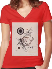 Kandinsky - Blue 1922  Women's Fitted V-Neck T-Shirt
