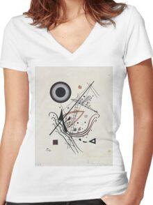 Kandinsky - Blue 1922  Women's Fitted V-Neck T-Shirt