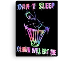 Can't Sleep, Clown Will Eat Me - Simpsons Canvas Print
