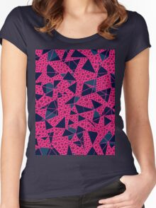 Triangles & Circles Women's Fitted Scoop T-Shirt