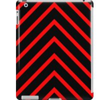 Black Red Chevron iPad Case/Skin