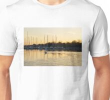 Golden Ripples and Reflections Unisex T-Shirt