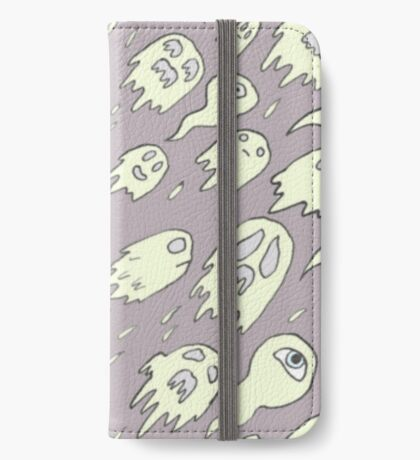 Purple Ghost Pattern iPhone Wallet/Case/Skin