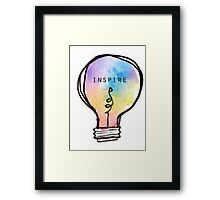 Inspire Lightbulb Framed Print