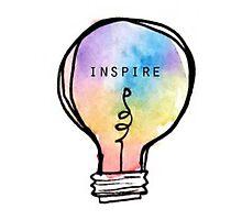 Inspire Lightbulb Photographic Print