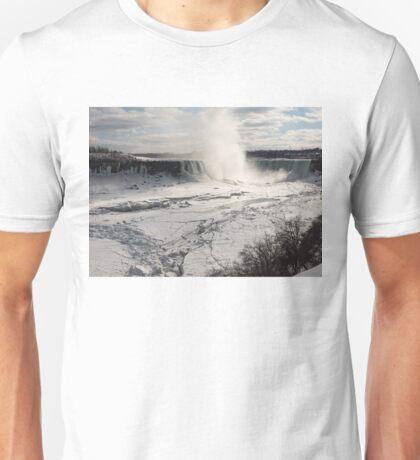 Winter Wonderland - Spectacular Niagara Falls Ice Buildup  Unisex T-Shirt