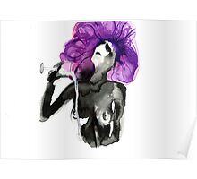 Purple Drinks Poster