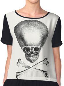 Pirate Geek - White Rims Chiffon Top