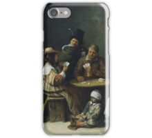 Hieronymus Bosch - Josse Van Craesbeeck - Card Players 1645 iPhone Case/Skin