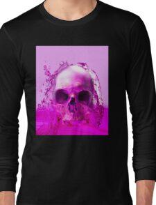 Purple Skull in Water Long Sleeve T-Shirt