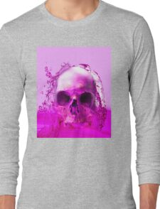 Purple Skull in Water Long Sleeve T-Shirt