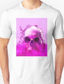 Purple Skull in Water Unisex T-Shirt