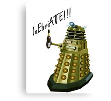Drunk Dalek Canvas Print