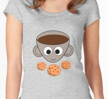 Funny coffee and cookies Women's Fitted Scoop T-Shirt