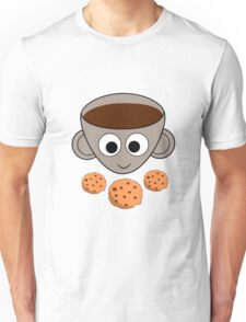 Funny coffee and cookies Unisex T-Shirt