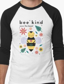 Save The Bees! Men's Baseball ¾ T-Shirt