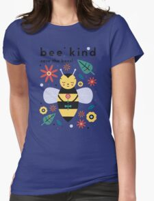 Save The Bees! Womens Fitted T-Shirt