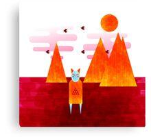 The desert shaman Canvas Print