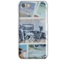 Vintage Photograph - Living Room with Monstera iPhone Case/Skin