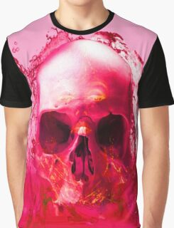 Red Skull in Water Graphic T-Shirt