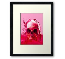 Red Skull in Water Framed Print