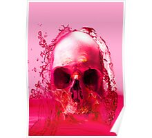 Red Skull in Water Poster