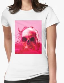Red Skull in Water Womens Fitted T-Shirt