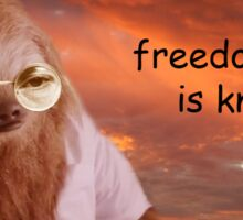 Freedom Sloth - [Motivation Intensifies] Sticker
