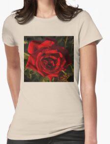 Early Morning Gems on Velvet Womens Fitted T-Shirt